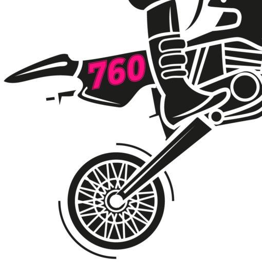 Motorrad Zahl oder Ziffern in neonpink