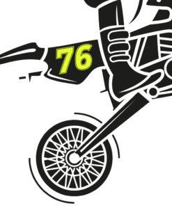 Motorrad Zahlen fluoreszierend