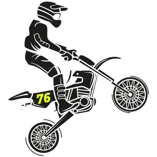 Motorrad Zahlen in Leuchtfolie