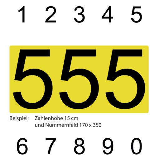 Zahlen für Kart mit Nummerntafel