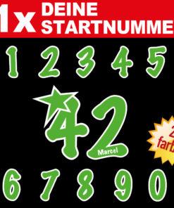Zahlen Aufkleber mit Namen individuell gerfertigt