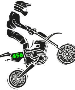 Zahlen Seitenteil Motorrad