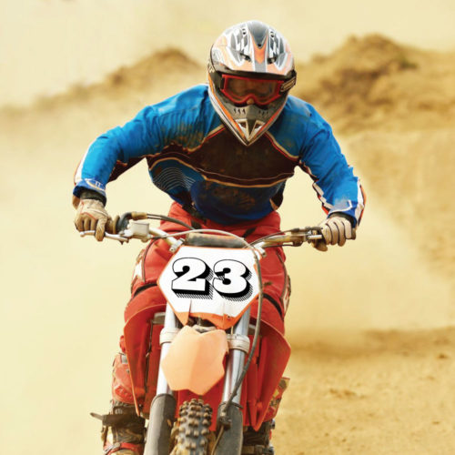 Motocross Zahlen und Ziffern Set