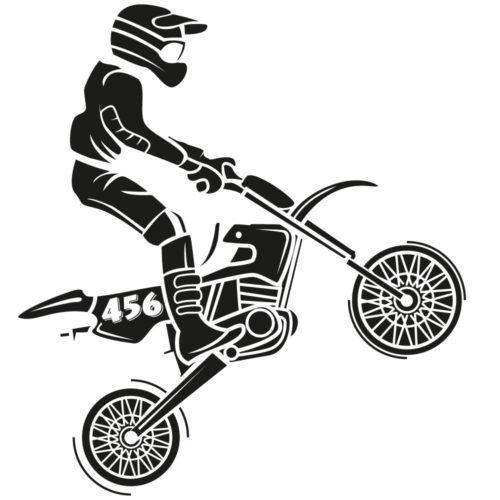 Ziffern Seitendeckel Motocross Motorrad