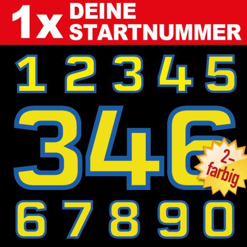 Mehrfarbige Motorrad Startnummern