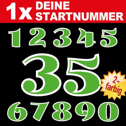 Motorrad Startnummern zweifarbige racing Ziffern